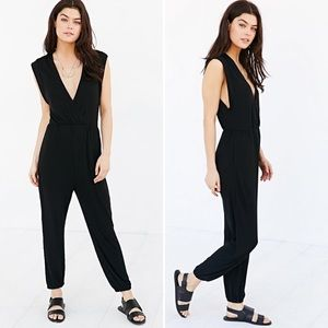 Urban Outfitters Gigi Ribbed Surplice Jumpsuit